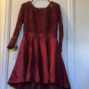 Red lace/ silky dress